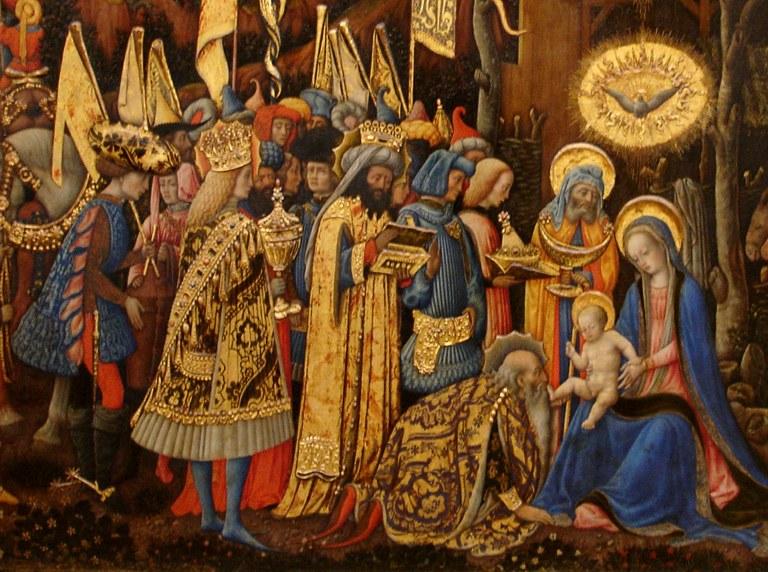 Magoen adorazioa, Antonio Vivarini, 1445-47.