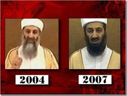 Bin Laden 2004  eta 2007an. 2010ean Washingtonen