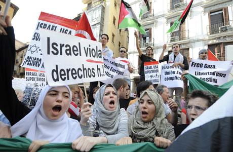 Mundu mailan mobilizazio asko egon dira Israelen erasoa salatzeko