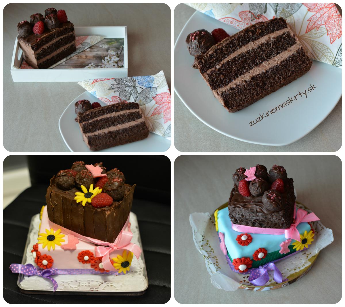 Čoko-malinová torta