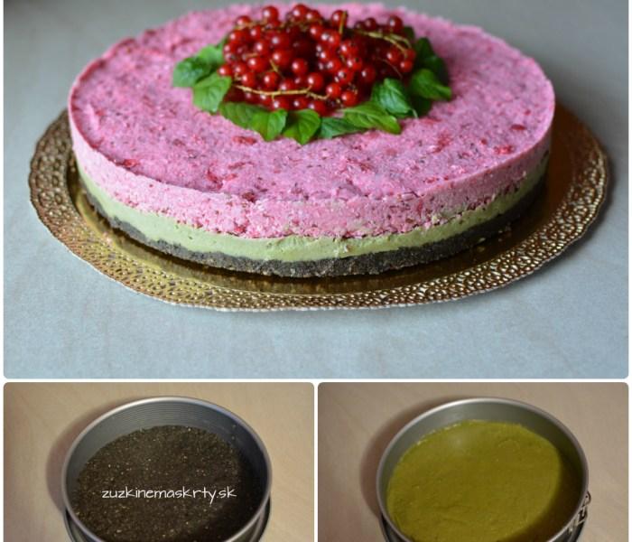 RAW torta ríbezľová s matcha čajom