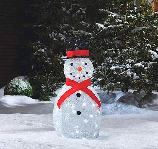 Фото-шоулар - ерекше декор: жіптер, күріш шарлары. Снеговина