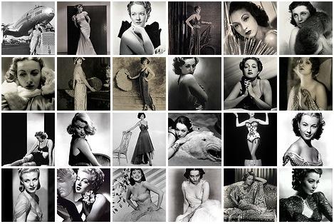 Female Stars in Black and White