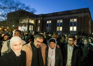 Thousands attend vigil for #ChapelHillShooting at the campus of North Carolina University