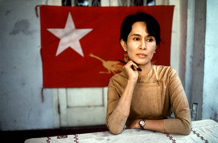 Aung San Suu Kyi, nonviolent activist and winner of the 1991 Nobel Peace Prize, Rangoon, Burma (Myanmar), 1995