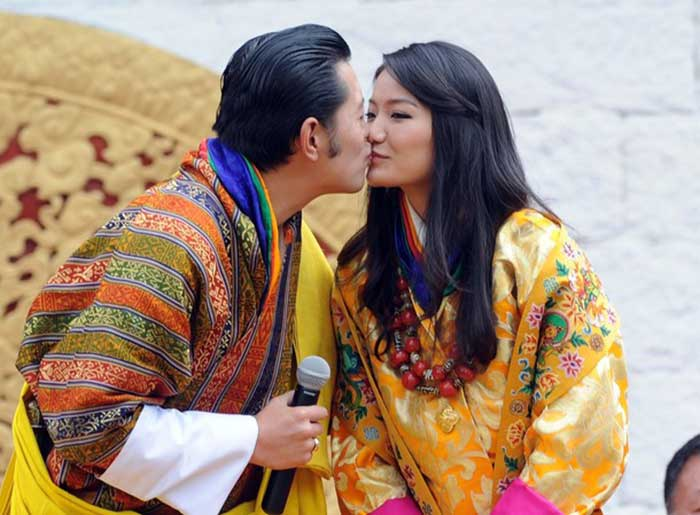 King Jigme Khesar Namgyel Wangchuck married Queen Jetsun Pema in Bhutan on October 15, 2011.