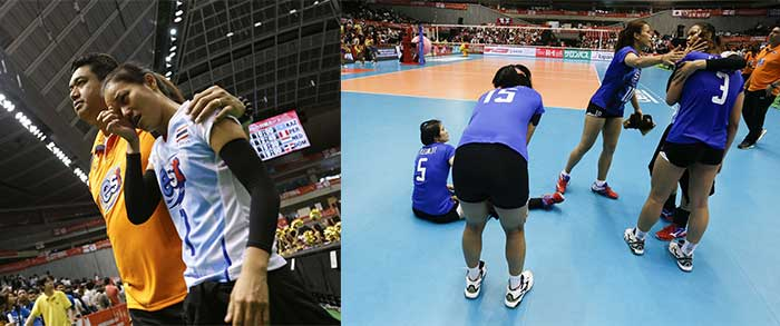 Thongchai superpowers and prayers failed to help Thailand's women volleyball team. Oh well!. Magic with a Glitch!