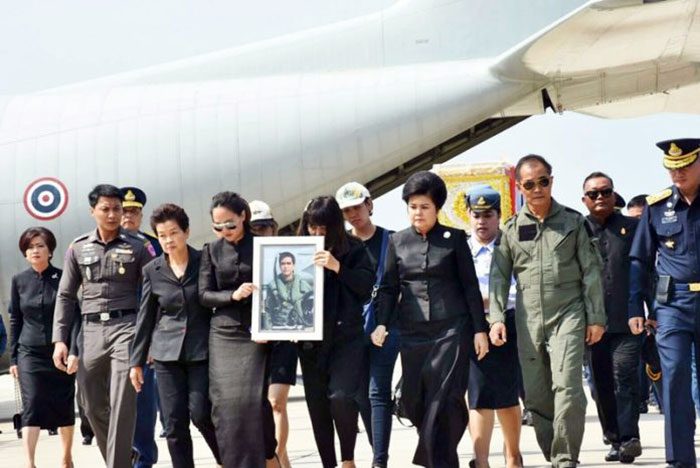 Karma has no mercy! Sqd Ldr Dilokrit, 34, was the eldest son of Air Chief Marshal Arom Pattawee, former deputy chief-of-staff of the Royal Thai Armed Forces