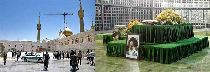 shrine-of-late-Iranian-revolutionary-founder-Ayatollah-Khomeini,-after-an-assault-by-several-attackers-in-Tehran