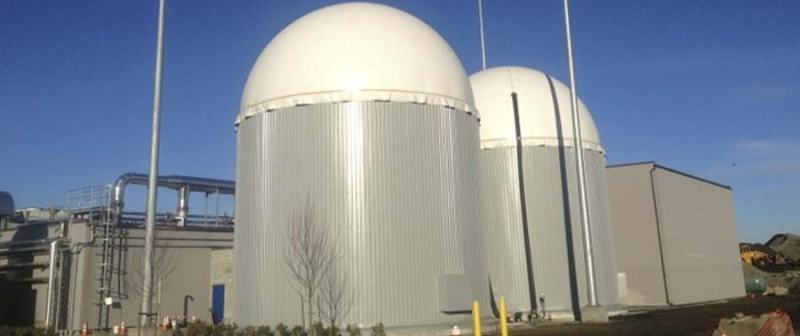 An anaerobic digester at Harvest Power's Richmond BC facility.