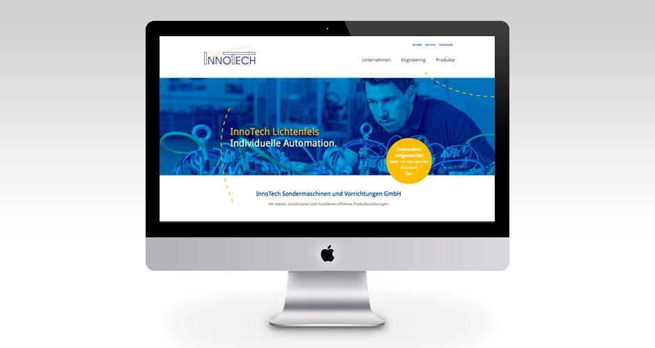 Responsive Webdesign für InnoTech aus Oberfranken