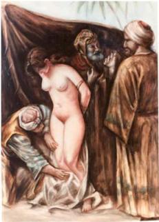 schiava bianca ispezionata da un musulmano