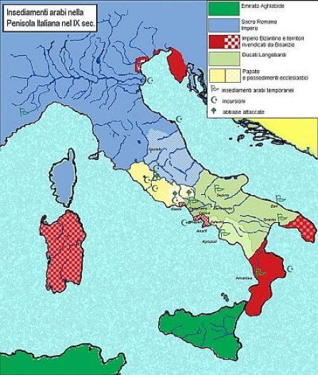 battaglia del garigliano insediamenti arabi italia