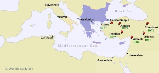 Conquiste arabe dopo Manzikert (1071)