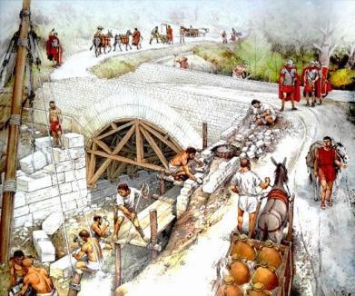 costruzione ponte romano