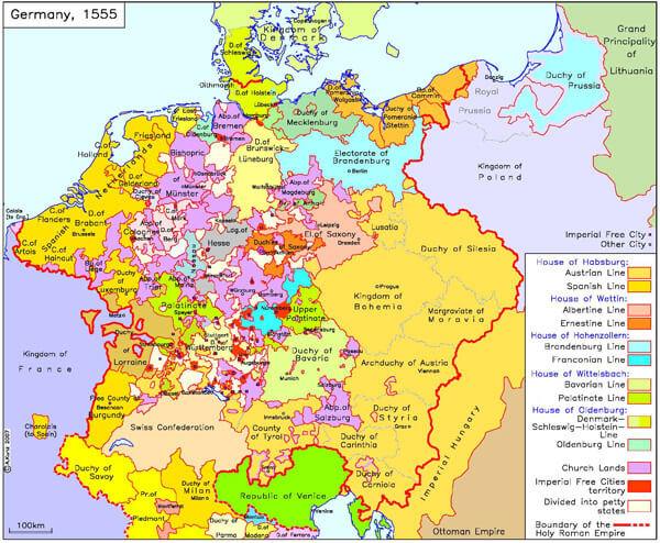 Germany 1555 Cities