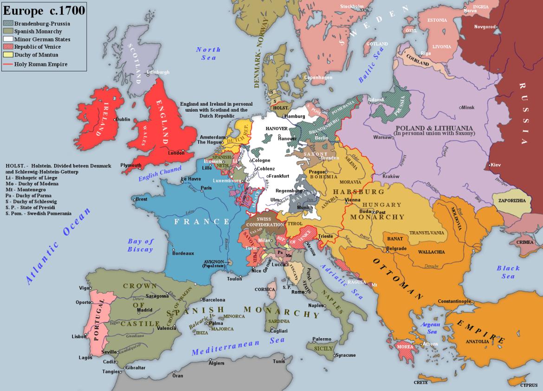 Europa 1700 Asburgo e Borbone