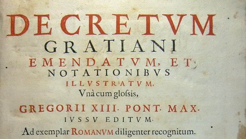inquisizione medievale - decretum gratiani