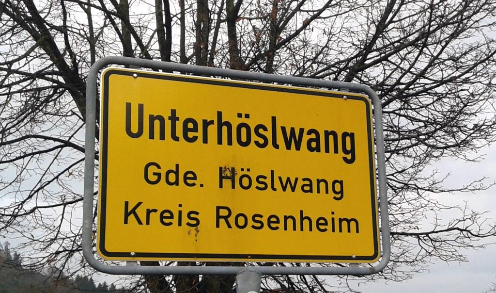 Ortseingang Unterhöslwang - Will ich nicht wohnen