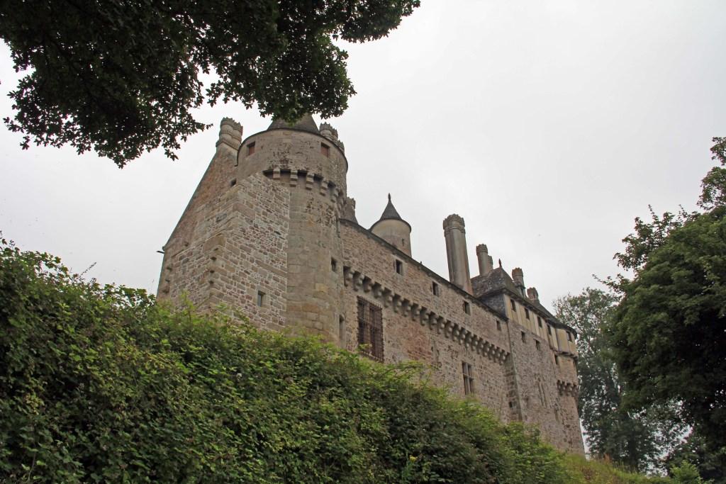 La Chateau la Roche Jagu - stolz über dem Tal erhoen