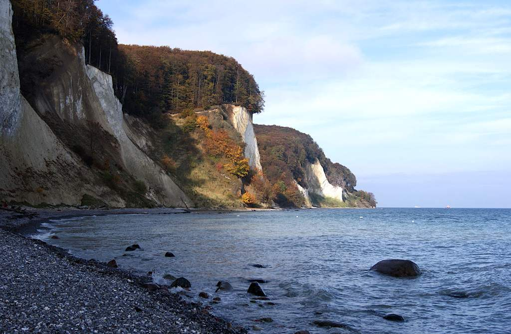Strand am Kieler Bach - Meer, Steine, Kreide