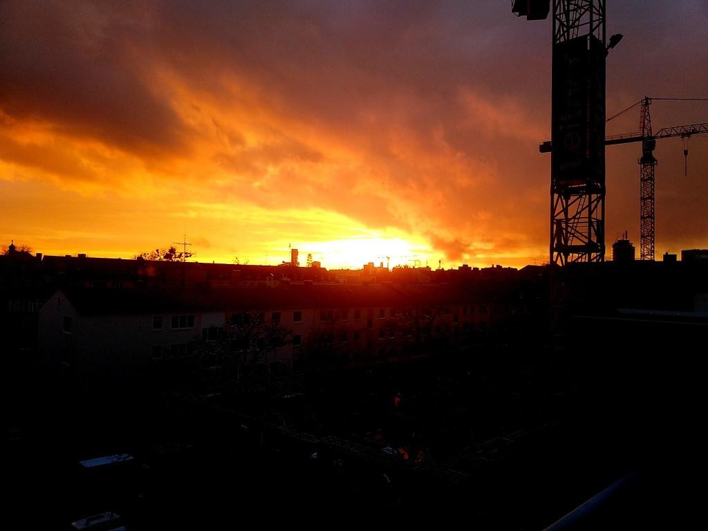 Feierabend - Sonnenuntergang - Art
