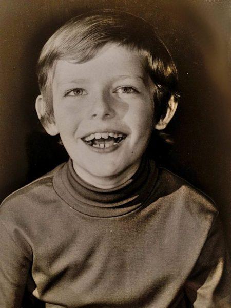 Der eine Lutz (ich) mit knapp zehn Jahren