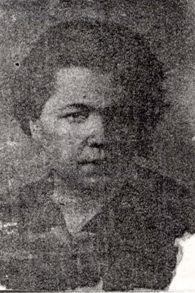 Shula Dukhovnaya auf einem schlecht erhaltenem Foto