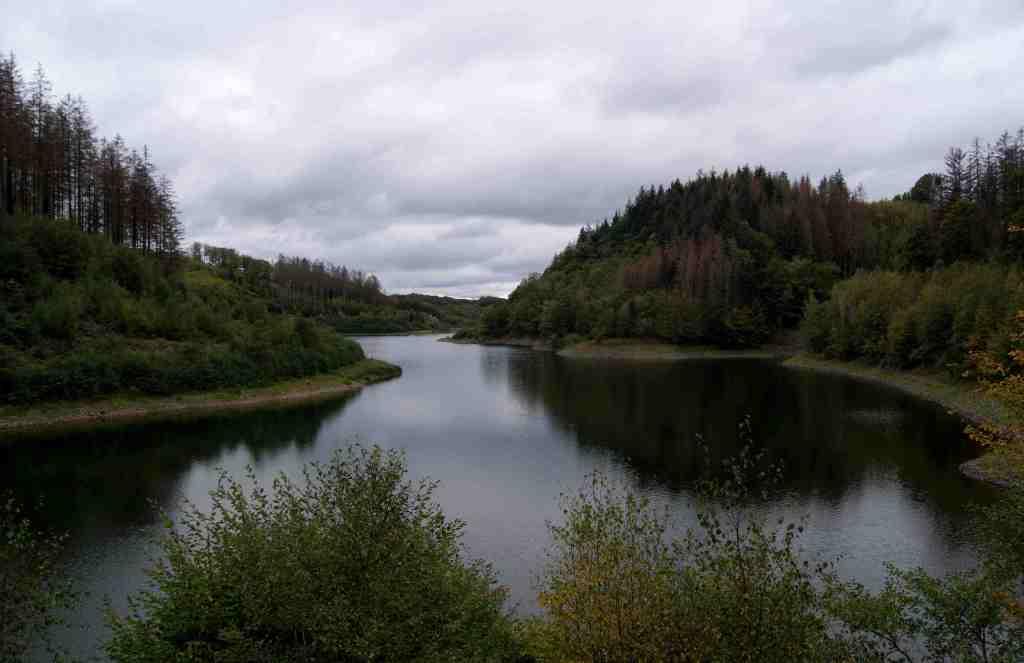 Niedriger Wasserstand in der Hasper Talsperre