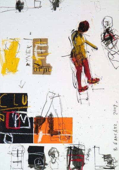 """Ryszard Gancarz, """"Na mojej ulicy XXII"""", 50x35 cm, tech. mieszana"""
