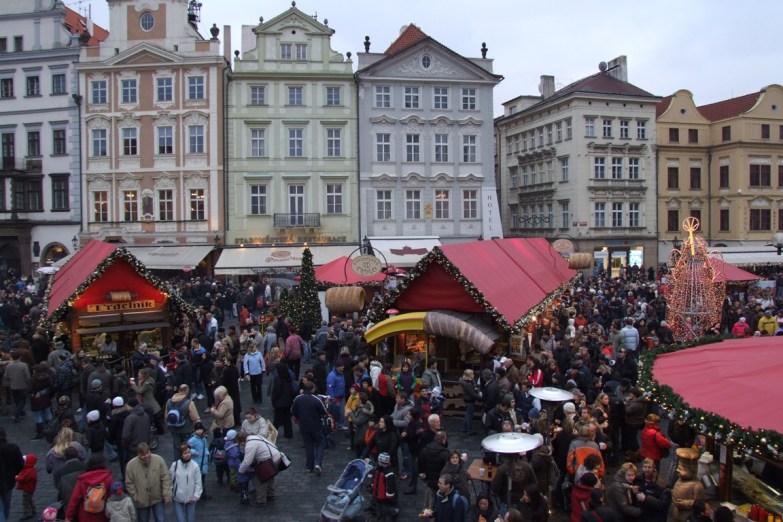 Świąteczny jarmark w Pradze
