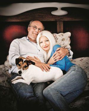 Małgorzata Niezabitowska z mężem Tomaszem Tomaszewskim; fot. Rafał Masłow