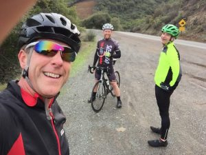 At the top with riding pals John and Doug (that's me in the middle)