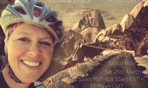 Monica Does The Mountain: Saturday, 12:55UTC