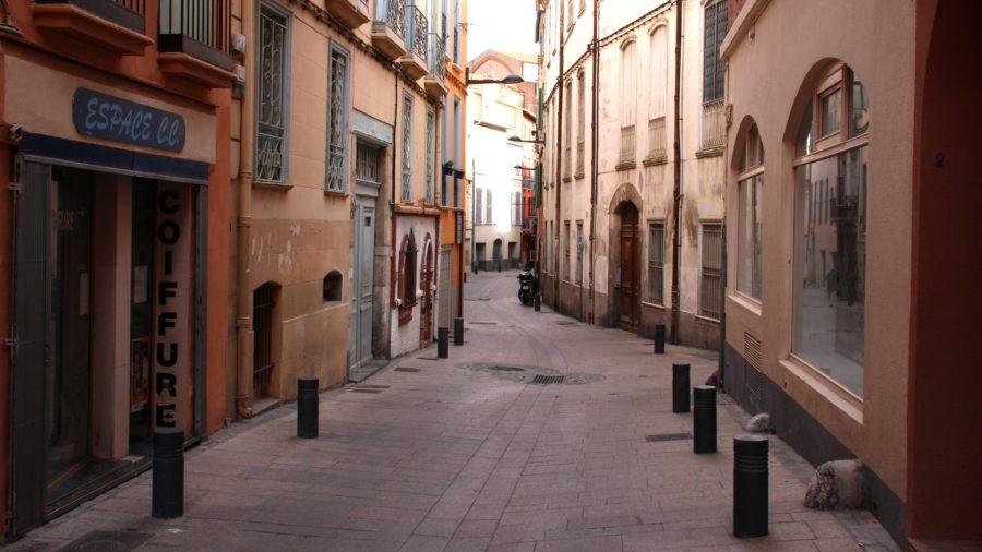 Mitten in der Altstadt von Perpignan.