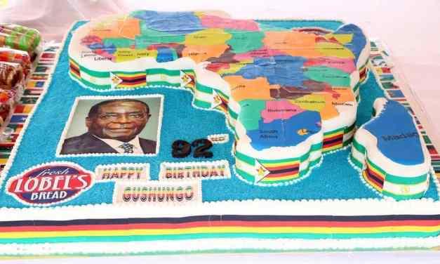 Picture of President Mugabe's birthday cake