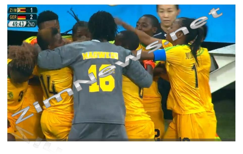 Zimbabwe Mighty Warriors Score A Goal  Vs Germany..Rio 2016 Final Football Results 6-1 ..Latest News..Pictures