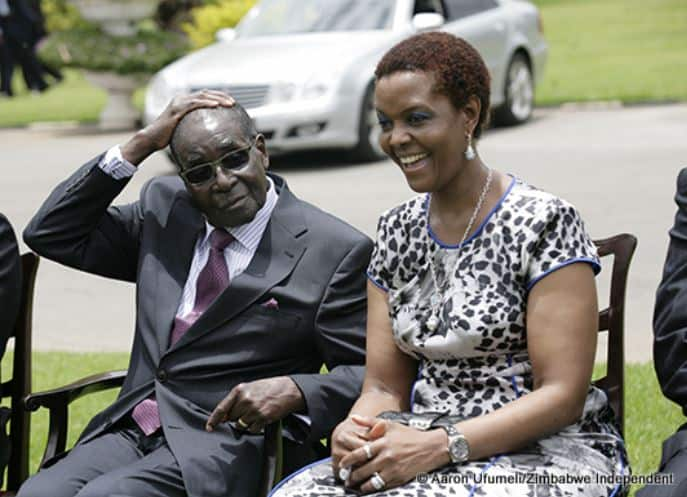Mugabe abused physically by wife Grace.., Now a broken old man