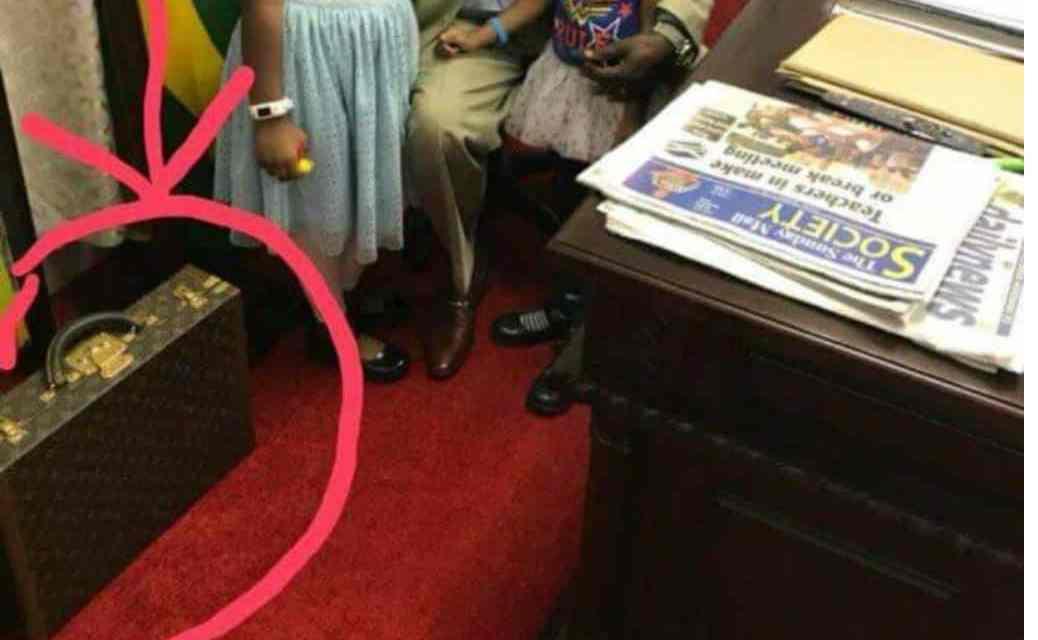 PICTURE: ED  Mnangagwa's rare LV briefcase causes BIG controversy