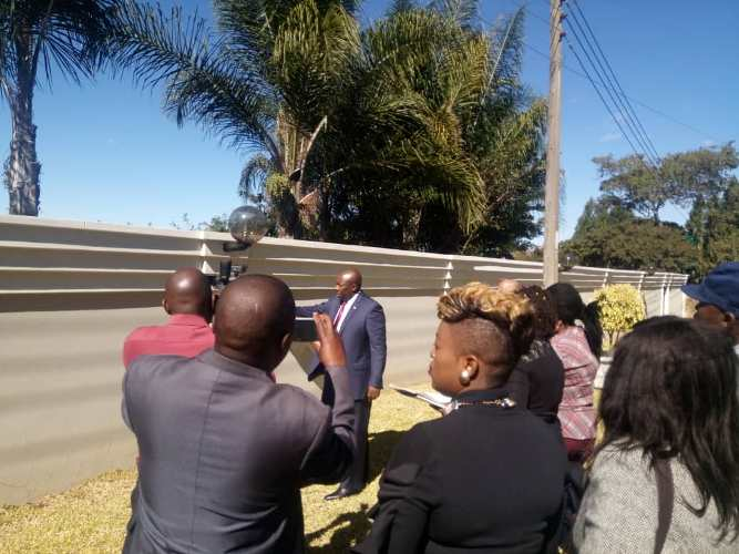 Breaking News, Pictures: Court inspects Saviour Kasukuwere's house damage