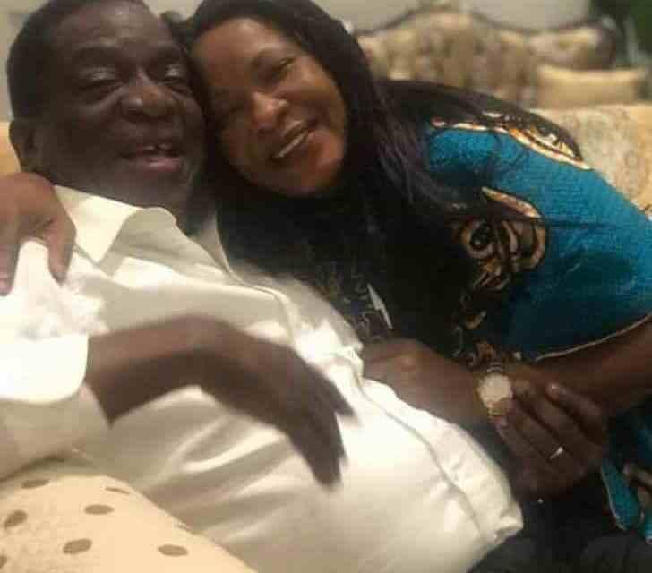 ED Mnangagwa, Wife, Selfie Picture Goes Viral