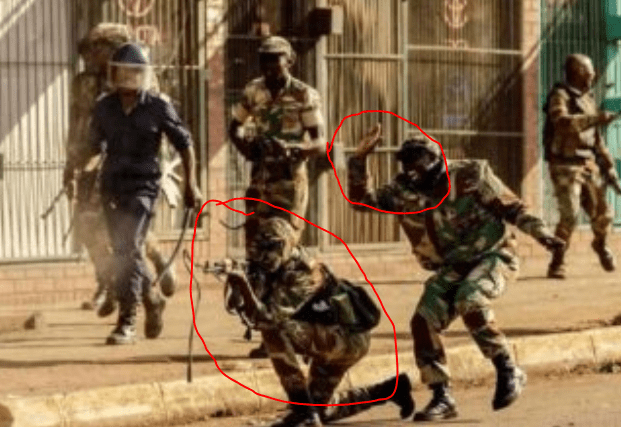 ED on Zim Army..Masked soldier fires live ammo at fleeing civilians..Latest VIDEO