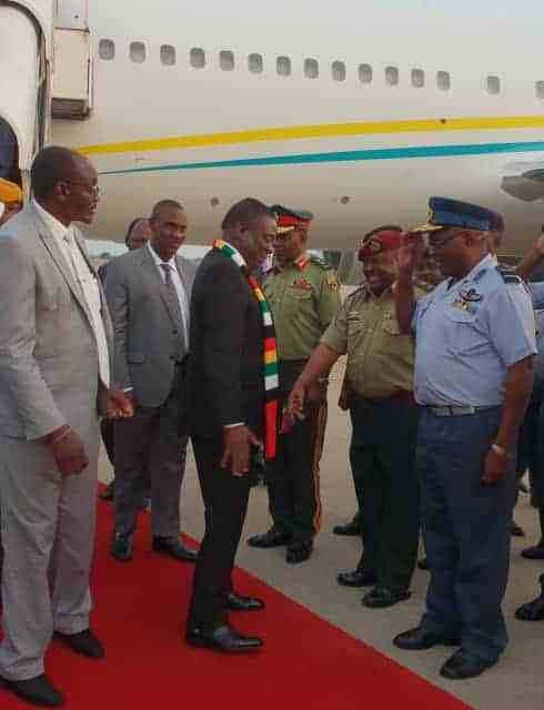 PICTURES: President ED Mnangagwa returns from Guinea