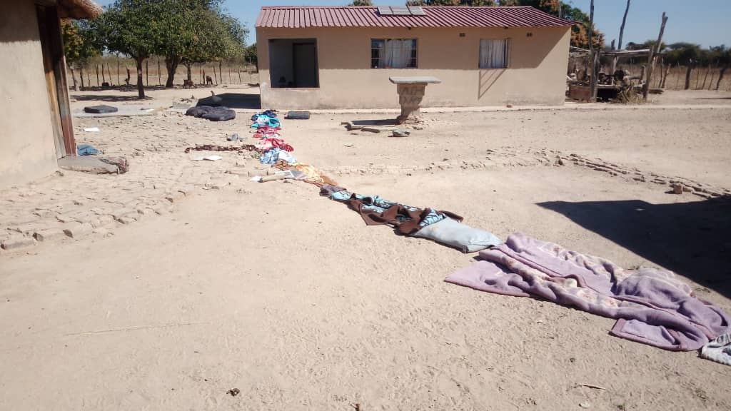 PICTURES: Goblins terrorise Sanyati villagers, line up clothes from deceased's house to grave…