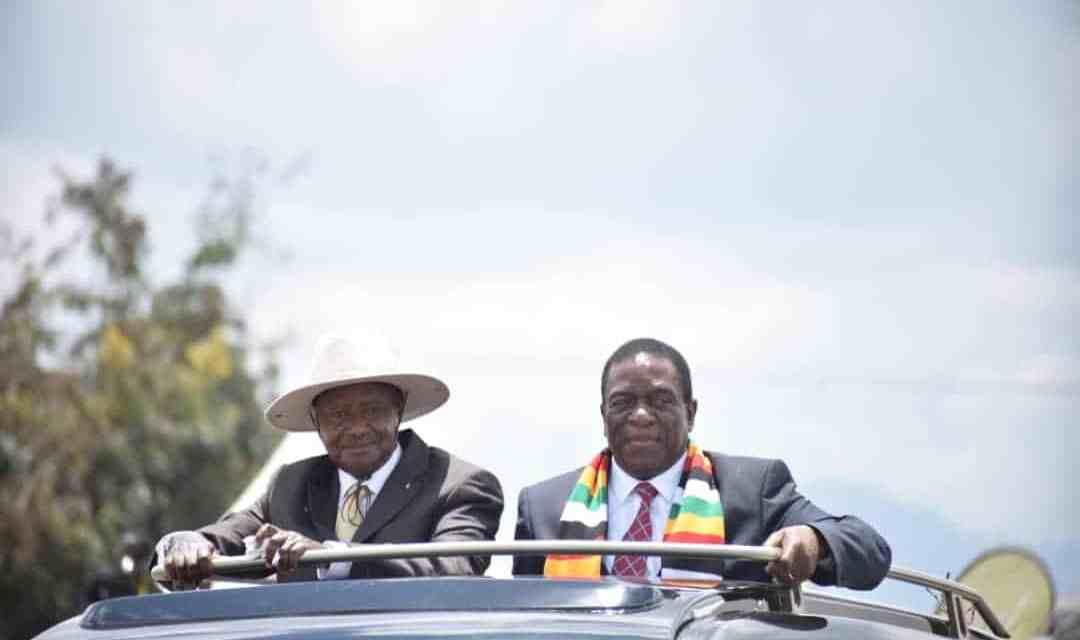 UGANDA: Mnangagwa given the highest honour bestowed on any foreign leader..pics