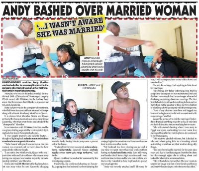 CHEATING Andy Muridzo caught pants down with married woman, Bashed by hubby Lenon at gunpoint..PICTURES