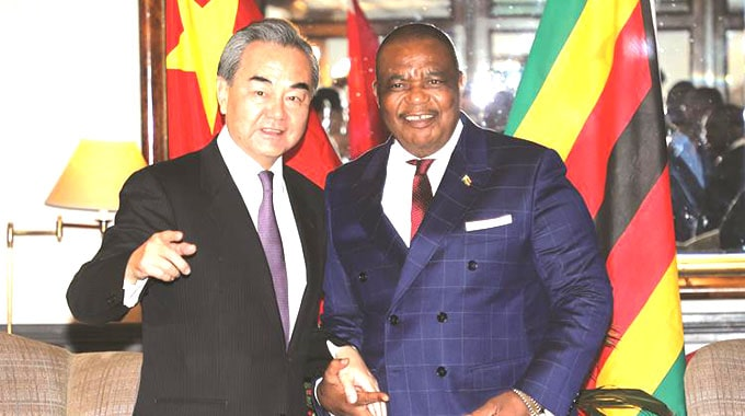 Chinese Foreign Affairs Meets Acting Zim President Chiwenga in Harare