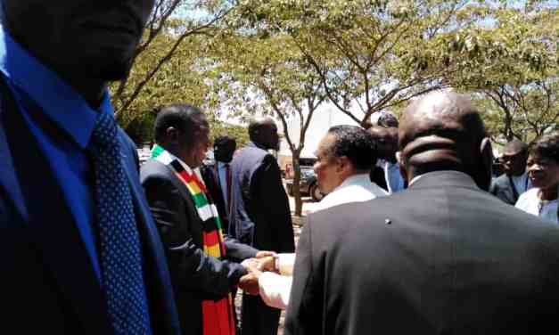 President Mnangagwa attends ZAOGA church service with Prof Ezekiel Guti …. PICTURES..VIDEO