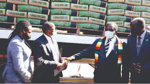 JUST IN: Mnangagwa tours PPC Cement plant in Msasa