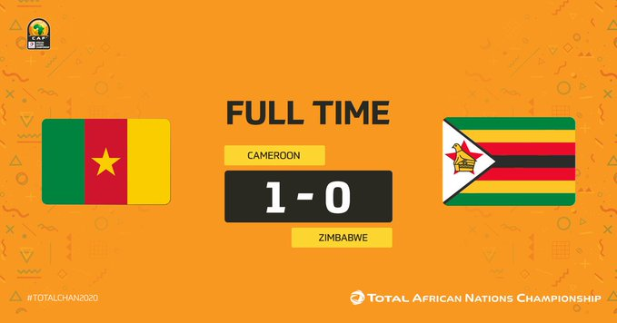 FULL TIME: Zimbabwe falls to Cameroon in CHAN opener